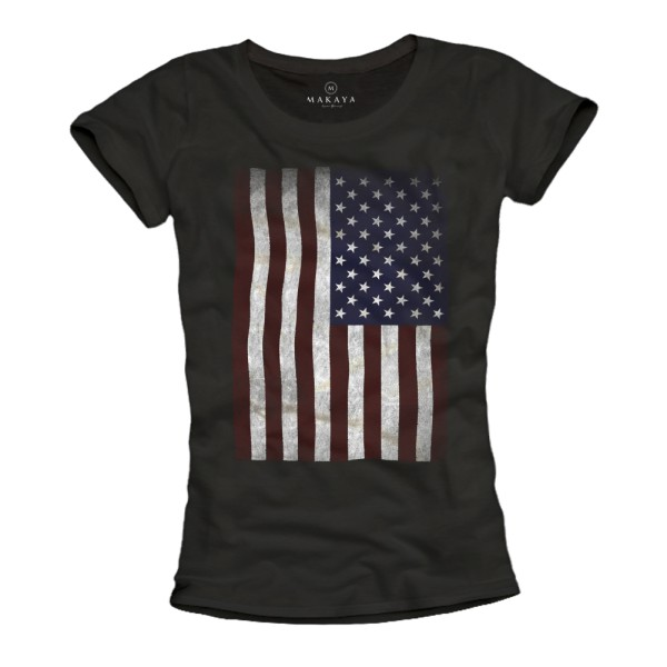 Damen T-Shirt - USA Flagge