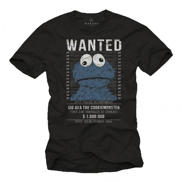 Herren T-Shirt - Wanted Cookie Smuggler