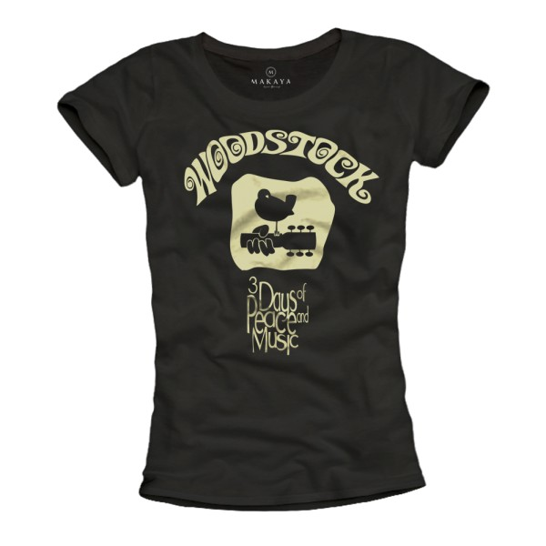 Damen T-Shirt - Woodstock