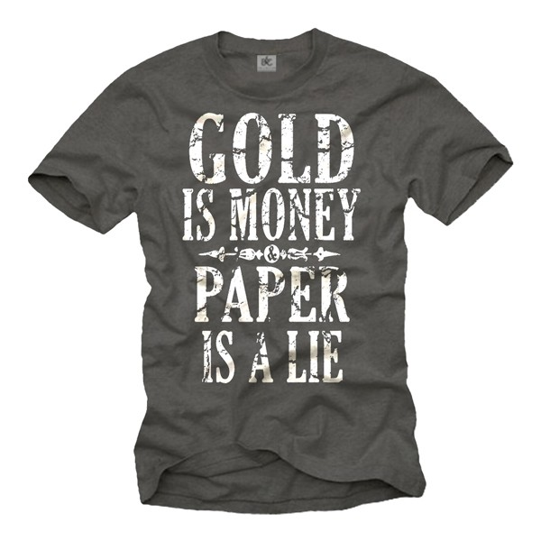 Herren T-Shirt - Gold is money